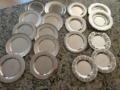 18 Silver Dessert/Appetizer Plates (Wm Rogers and Oneida Silver)