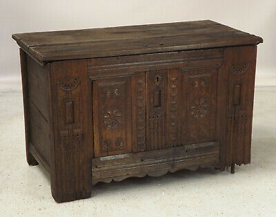 Antique Carved Chest Coffer (delivery available) Oak