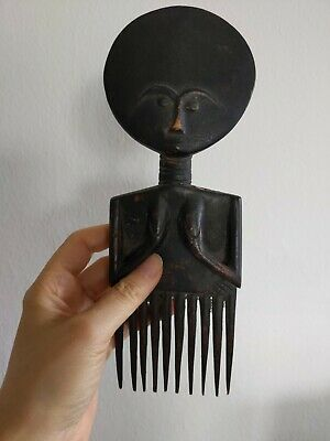 Antique Luba And Fante / Ashanti African Sculptures