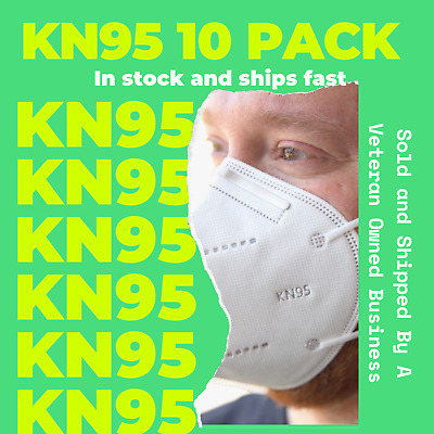 [10 PACK] KN95 Disposable Protective Face Mask 5-LAYERS - USA Seller