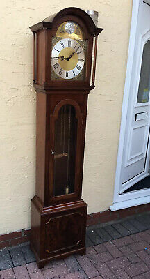 Tempus Fugit Grandfather Clock Mahogany West Germany Old Reproduction Long Case