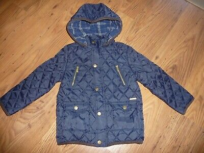 Girls Navy Blue Smart  Hooded Jacket Coat by Mayoral Age 5 in VGC Fast Disp!!