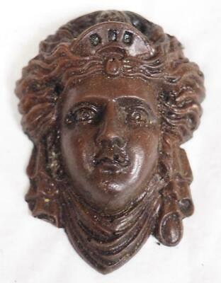 Vintage Mask Decoration For Clock Case Vienna Wall Clock Case Mask Mount Resin