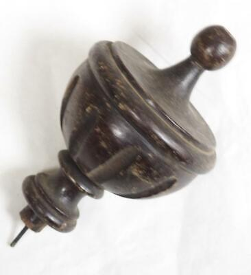 Wooden clock Finial Carved Turned Clock Finial Central Wood Finial Wall Clock