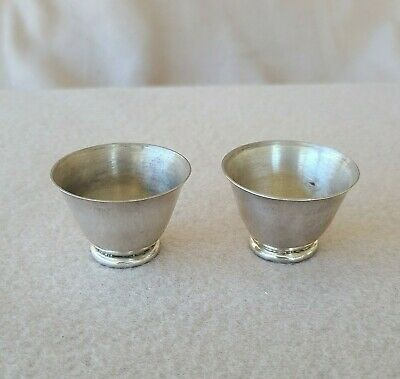 Pair of William Spratling 1950s Taxco Mexican Sterling Silver Cups
