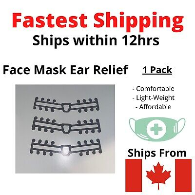 Face Mask Attachment Ear Saver Strap Clip for Comfort 3D CANADA