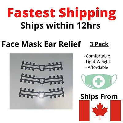Face Mask Attachment Ear Saver Strap 3D Clip for Comfort 3 Pack CANADA