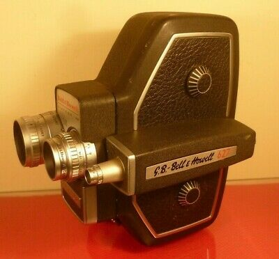 GB BELL & HOWELL 240-627 16mm PROFESSIONAL CINE CAMERA: f/1.9 LENS: MADE IN USA