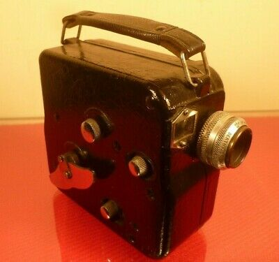 """PATHE NATIONAL 1 9.5mm CINE CAMERA: f/3.5 BERTHIOT CINOR LENS  & """"H"""" CHARGER"""