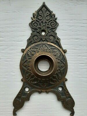 Triangular Door Knob Back Plate Rosette Russell Erwin Bronze Antique Victorian