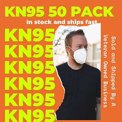 50 PACK KN95 KN-95 Protective Face Mask 5-LAYERS - USA Seller - Fast Ship