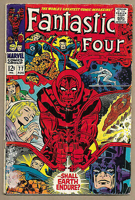 Fantastic Four #77 Aug 1968 Good/Very Good (3.0) Silver Surfer Galactus