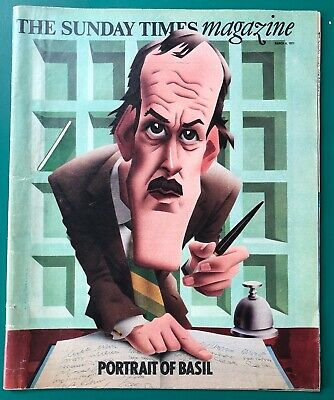 The Sunday Times Magazine March 1977 BASIL FAWLTY John Cleese towers