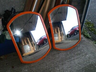 "2  convex safety mirrors 24"" x 16"" ( 60 cm x 40 cm )"
