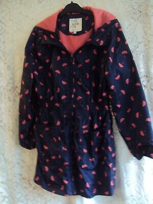 GIRLS NAVY AND PINK RAIN JACKET AGE 9 – 10 YRS Marks & Spencer