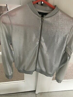 Matalan Girls Jacket Silver Age 12 Casual/party/evening