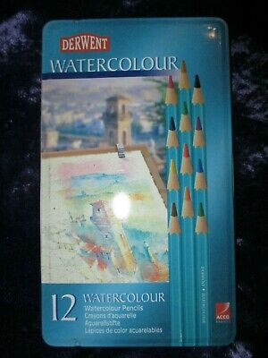 Derwent Watercolour Pencils Set of 12 New Sealed