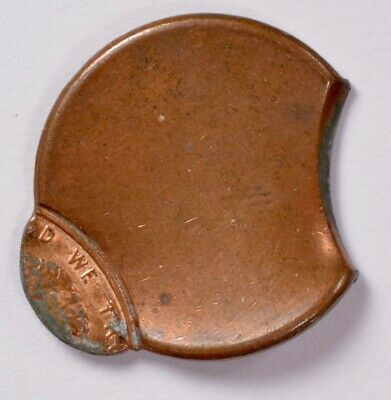 1c Lincoln Cent Strike Clip & 95% Off-Center BU Brown