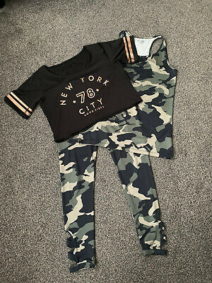Girls Camo Primark Outfit - Size 14-15 Years