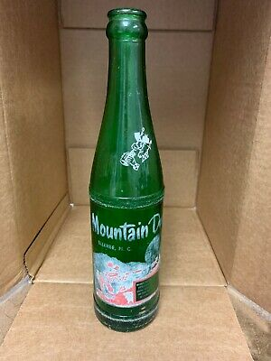 "VINTAGE HILLBILLY MOUNTAIN DEW 10oz SODA BOTTLE ""ELLERBE, NC"" NORTH CAROLINA L63"