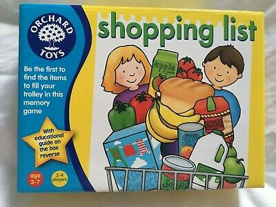 Orchard Toys Shopping List Kids Game Aged 3-7 Years