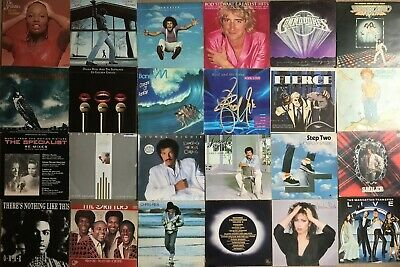 Job Lot / Collection of 24 Soul / Pop / Disco Vinyl Records LPs Fully listed