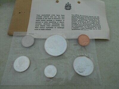 Silver 1965 Royal Canadian Mint Coin set w/COA & envelope, uncirculated