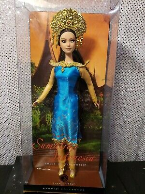 Sumatra Indonesia Barbie Dotw Dolls Of The World Pink Label Mattel L9582 Nrfb