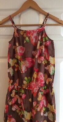 NEXT Girls Age 11 Years Strappy Floral Print Wide Leg Summery Jumpsuit BNWT