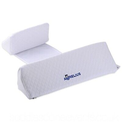 Aurelius Baby Sleep Positioning Pillow With Memory Foam Anti Flat Head Anti Roll