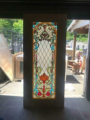 Beautiful Hand Made Stained Glass Victorian Style  Entry Door - Jh360
