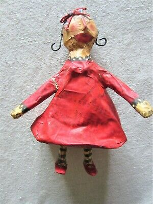 JULIe ARKELL Girly Girl in Red Dress Paper Mache Figure