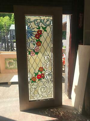 Beautiful Hand Made Stained Glass Victorian Style  Entry Door - Jhl2147-12