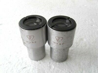 Lot of 2 Bausch & Lomb 10X WF Microscope Eyepiece Lens