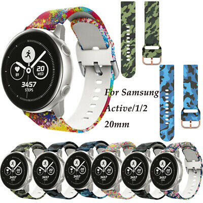 For Samsung Galaxy Watch Active 1 2 Replacement Soft Silicone Sport Wrist Band