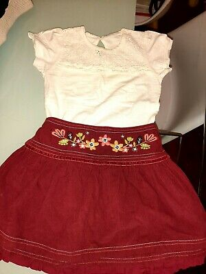 Girls summer set top and skirts aged 3-4 years Next