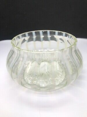 EAPG  White Opalescent Swirl Bowl Dish