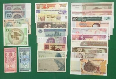 1900s-Current Old World Paper Money Collection of 25 Assorted Notes Currency!
