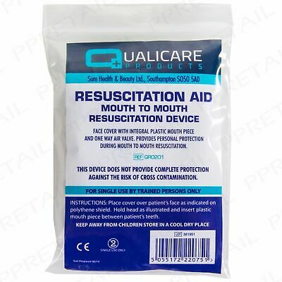5 x CPR RESUSCITATION FACE SHIELD WITH FILTER, FIRST AID, PARAMEDIC, AMBULANCE