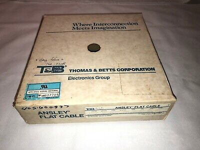 NEW ANSLEY FLAT CABLE 100 Feet & 13 Connectors