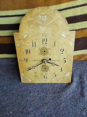 Antique 19Th Century Seth Thomas Wooden Works For Tall Case Clock