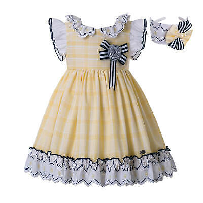 Girls Princess Frilly Dress Spanish Styles Birthday Party Suits Formal Outfits