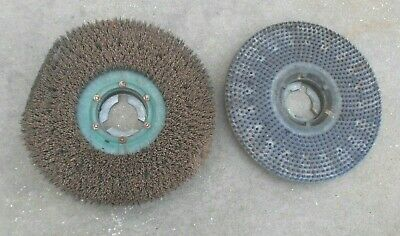 "Flo Pac & Unknown Brand 19"" Circular Scrubbing Brushes"