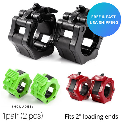 2 Inch Standard Barbell / Dumbbell Clamp Professional Weight Lifting Gym Workout