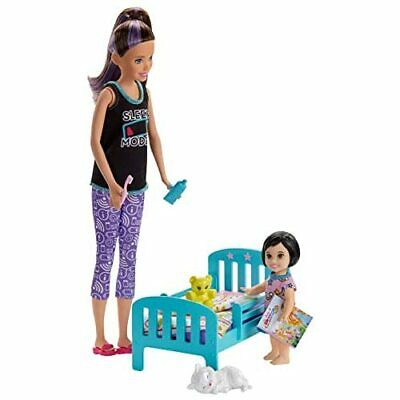 Barbie Skipper Babysitters Inc Bedtime Playset with Skipper Doll Toddler Doll