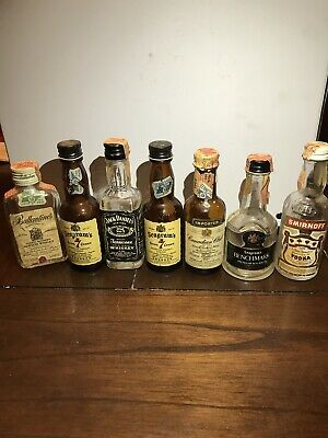 JACK DANIELS And Others Vintage Whisky Vodka & Bourbon MINIATURE BOTTLES +1 More
