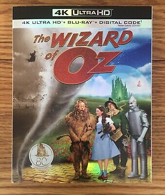 The Wizard Of Oz (4K Ultra HD, Blu-ray, Digital) With Slipcover 1939