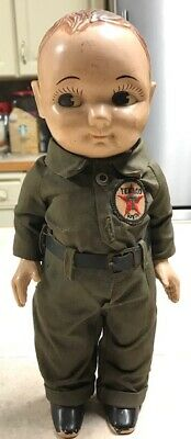 Buddy Lee Doll with Texaco Logo Late 30's or Early 40's