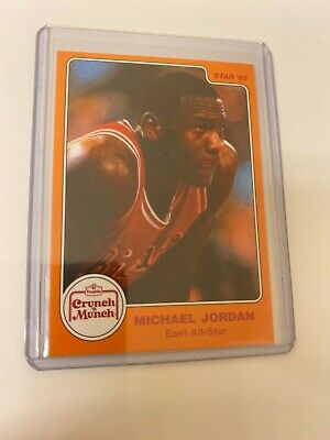 Michael Jordan 1985 STAR Crunch N Munch #4 RC! HOF! The Last Dance! Perfect! $!