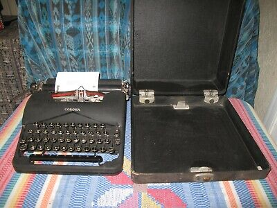 Vintage 1939 Corona Portable typewriter with Case